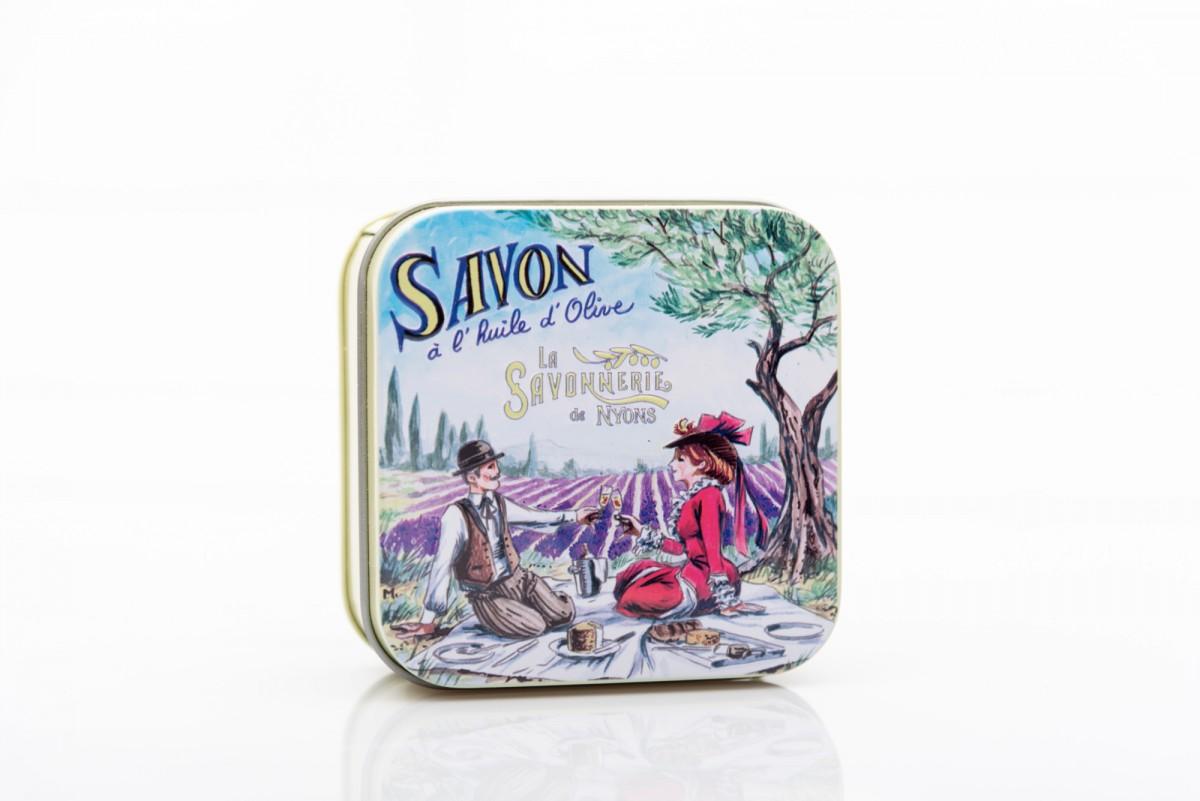 Мыло с лавандой в металлической коробке Пикник 100 гр_2. vivacite.ru