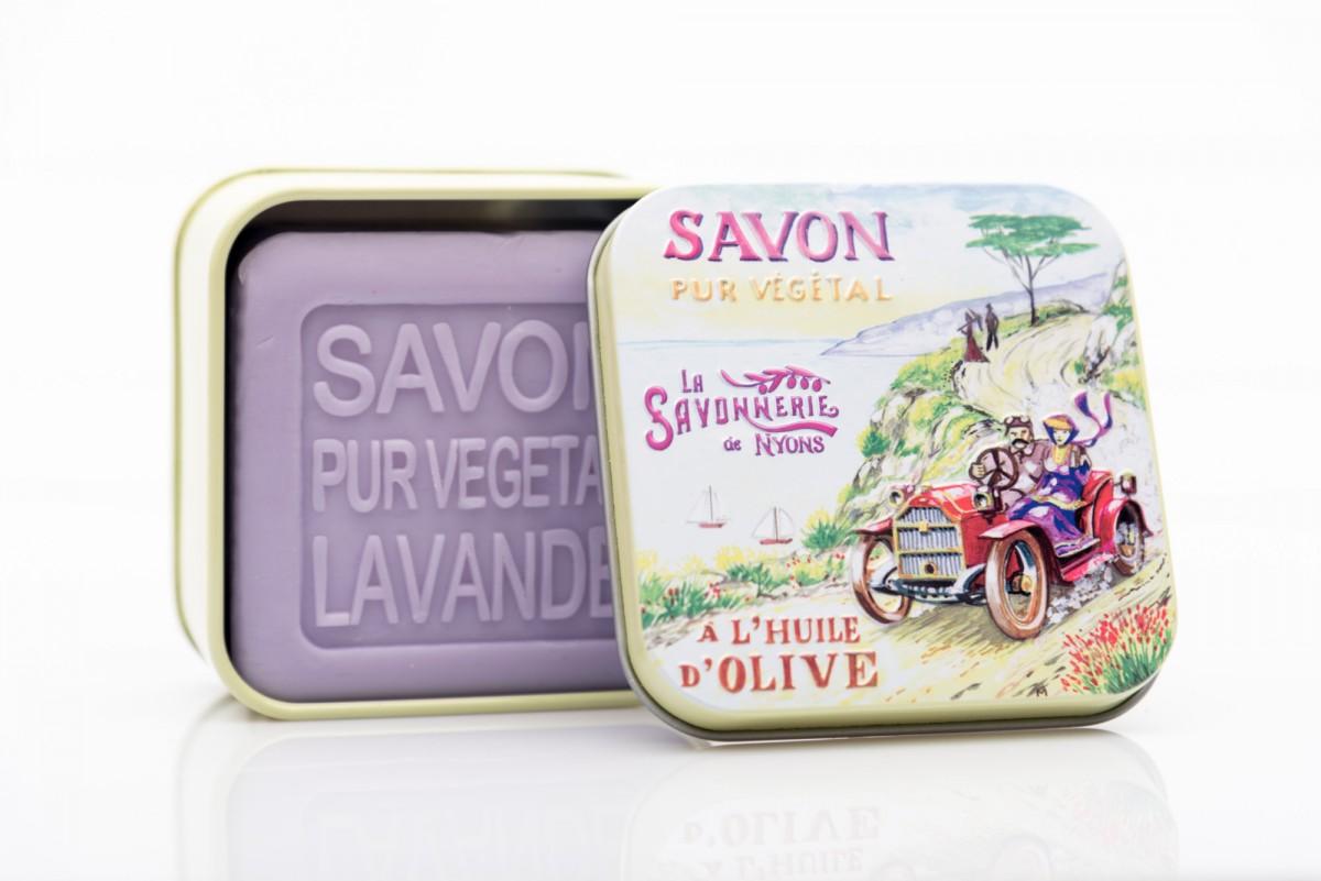 Мыло с лавандой в металлической коробке Прогулка 100 гр_1. vivacite.ru