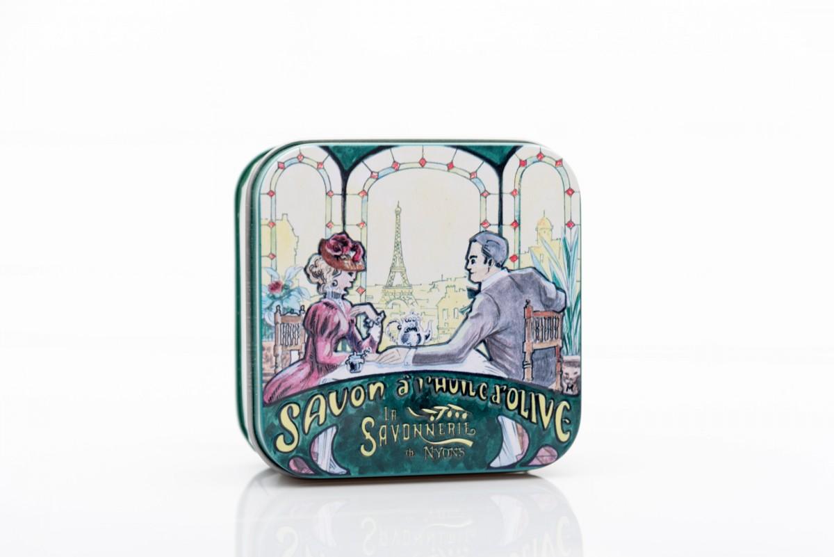 Мыло с лавандой в металлической коробке Ужин 100 гр_2. vivacite.ru