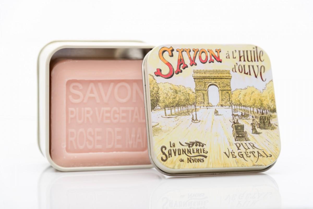 Мыло с майской розой в металлической коробке Елисейские поля 100 гр_1. vivacite.ru