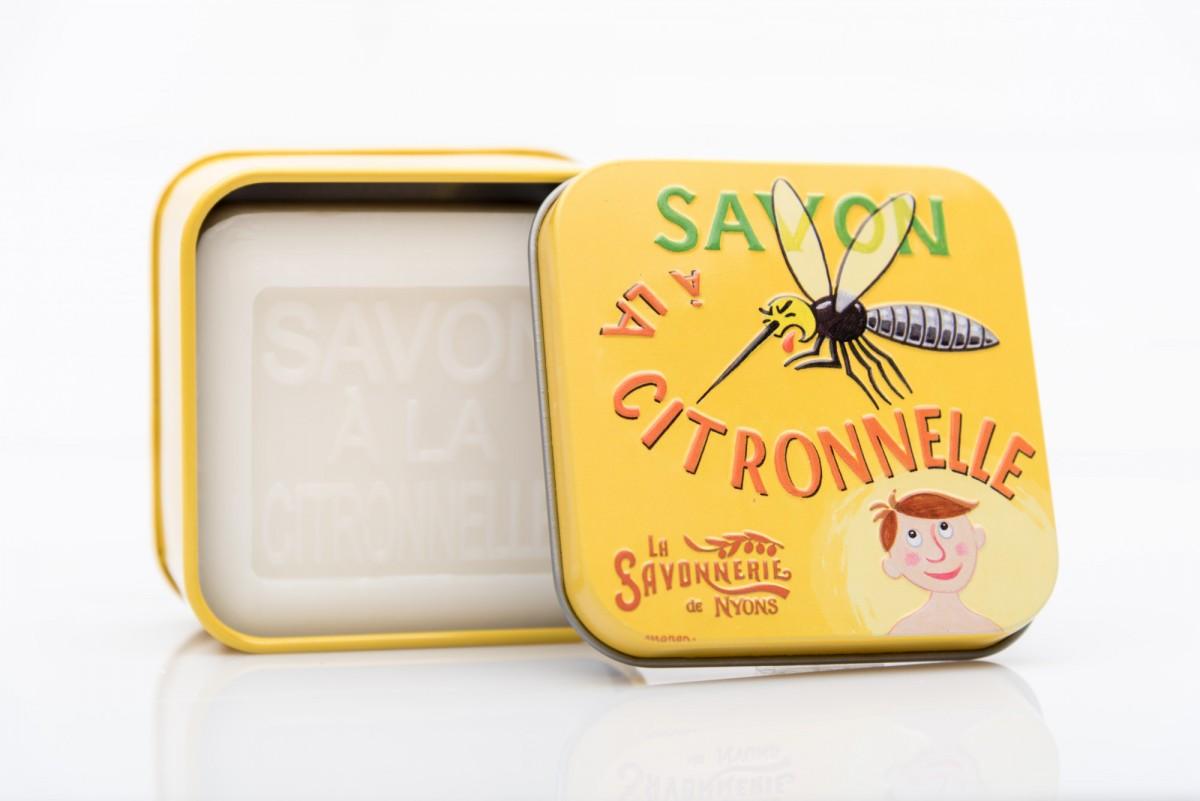 Специальное мыло в металлической коробке с лемонграссом 100 гр_1. vivacite.ru