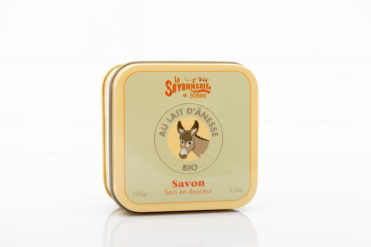 Мыло с молочком ослицы в металлической коробке 100 гр_2. vivacite.ru
