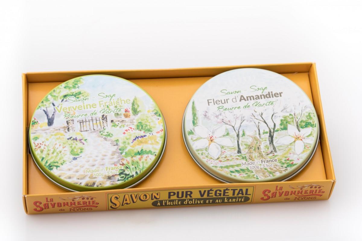 Набор круглого мыла с вербеной и миндалем 200 гр. vivacite.ru