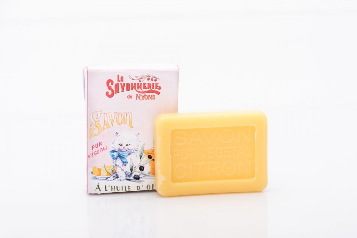 мыло с лимоном в картонной упаковке www.vivacite.ru