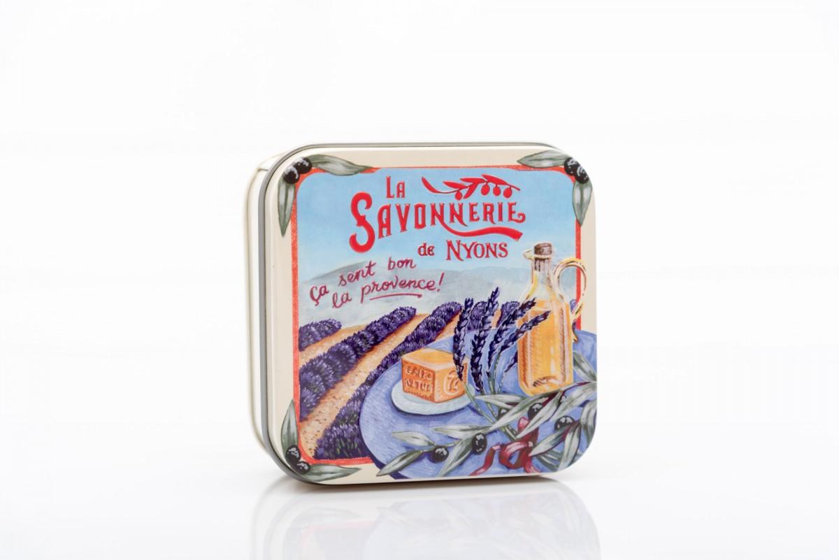 Мыло с лавандой в металлической коробке Прованс 100 гр_2. vivaicte.ru