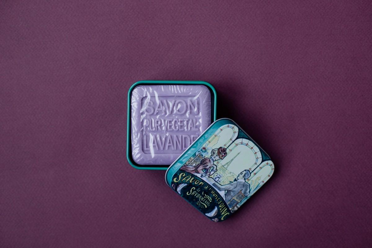 Мыло с лавандой в металлической коробке Ужин 100 гр_3. vivacite.ru