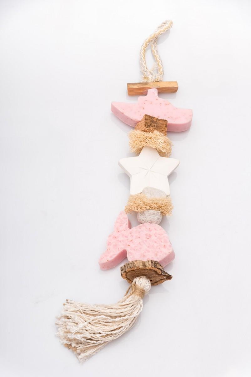 Декоративная косичка из мыла с розой Рыбки_1. vivacite.ru