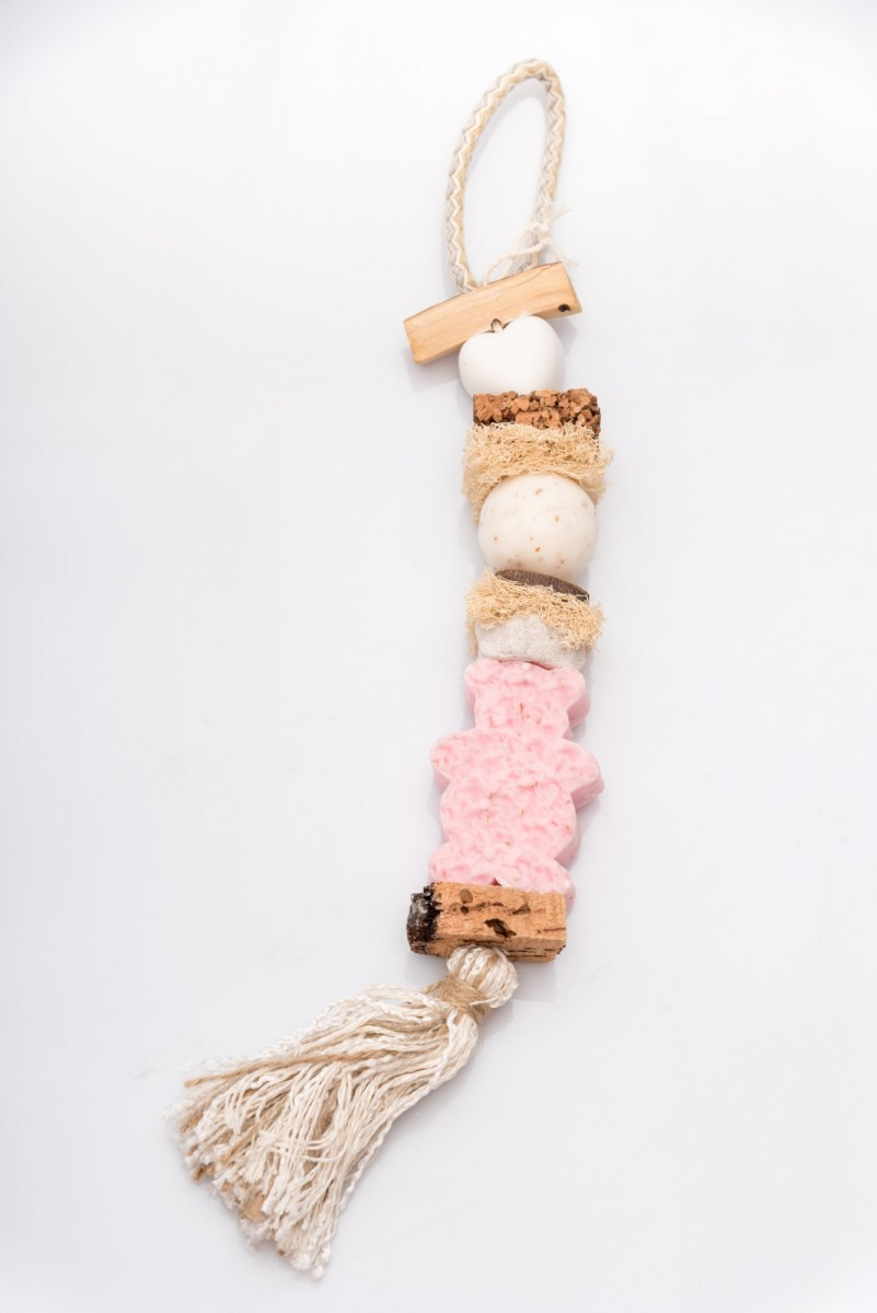 Декоративная косичка из мыла с розой Мишки_1. vivacite.ru