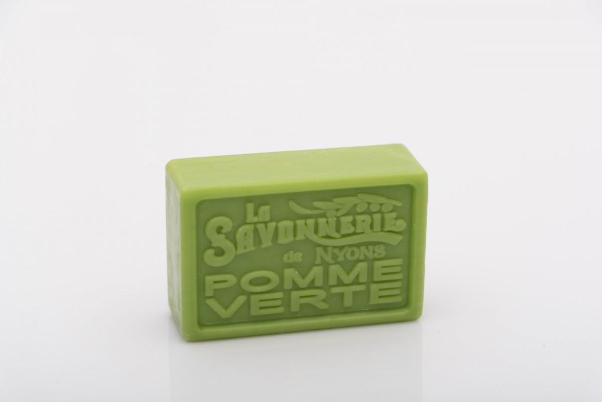 Мыло с зеленым яблоком прямоугольное 100 гр. vivacite.ru