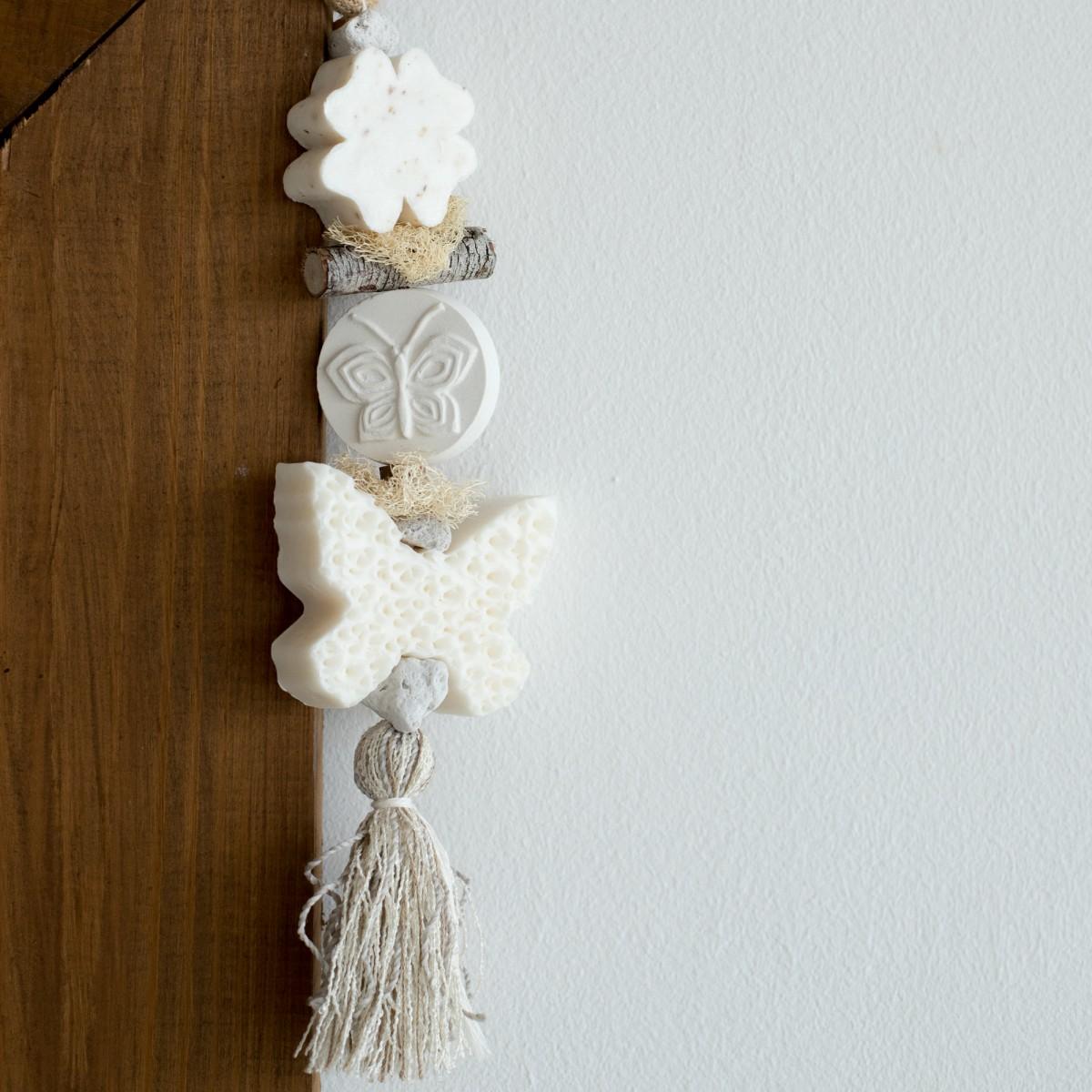 Декоративная косичка из мыла с хлопком Бабочки